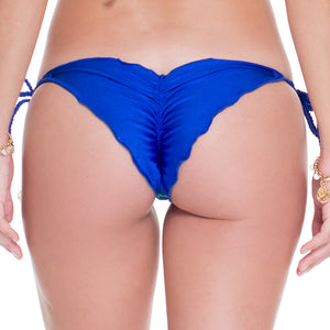 BLUE KISS - Wavey Ruched Back Brazilian Tie Side Bottom