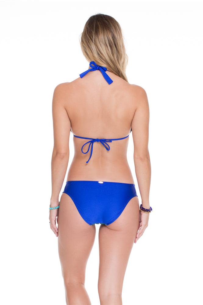BLUE KISS - Halter Top & Full Tab Bottom • Electric Blue