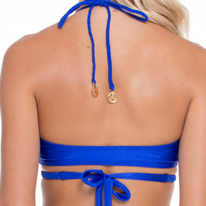 BLUE KISS - Cross Over Halter Top