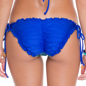 BLUE KISS - Wavey Ruched Back Full Tie Side Bottom