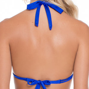 BLUE KISS - Triangle Halter Top