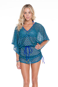 BLUE KISS - Cabana V Neck Dress • Electric Blue