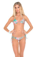 DREAM CATCHER - Wavey Triangle Top & Wavey Ruched Back Brazilian Tie Side Bottom • Multicolor