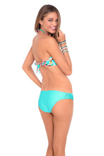 DREAM CATCHER - Weave Center Bandeau Top & Full Bottom • Aquamarine