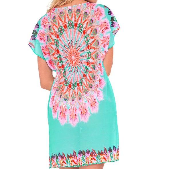 DREAM CATCHER - Cap Sleeve Short Caftan