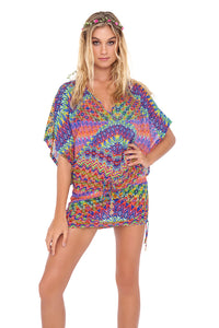FREE LOVE - Cabana V Neck Dress • Multicolor