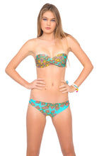 SUEÑOS ESTRELLADOS - Underwire Push Up Bandeau Top & Reversible Zig Zag Open Side Full Bottom • Multicolor
