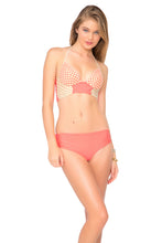STARFISH WISHES - Laced Up Underwire Corset Top & Cheeky Tied Up Back Bottom • Fire Coral