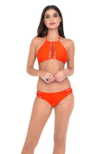 KISS THE WAVE - Strings To Braid Halter Top & Full Bottom • Caliente (874453696556)