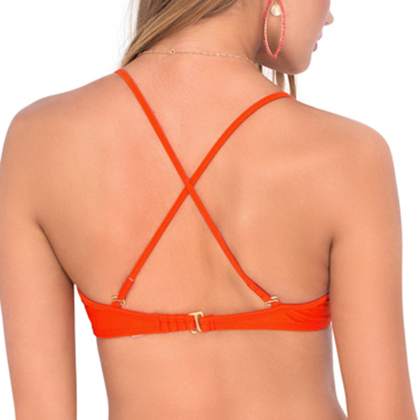 KISS THE WAVE - Criss Cross Sporty Bra
