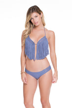 HEART OF A HIPPIE - Weave Fringed Triangle Top & Weave Moderate Bottom • Blue Moon