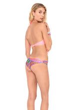 HEART OF A HIPPIE - Weave Fringed Halter Top & Strappy Brazilian Ruched Back Bottom • Multicolor