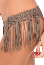 HEART OF A HIPPIE - Weave Fringed Halter Top & Weave Fringed Moderate Bottom • Sandy Toes