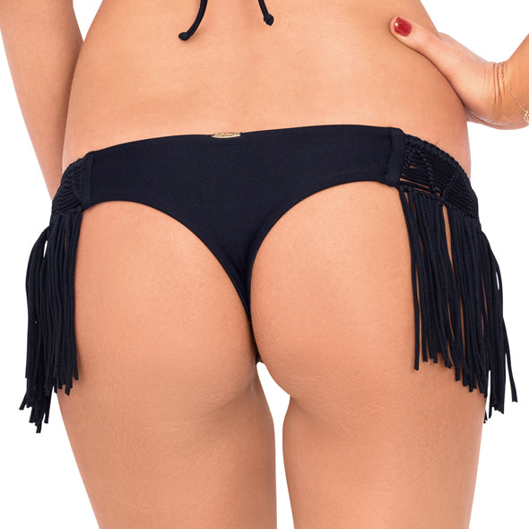 HEART OF A HIPPIE - Weave Fringed Skimpy Bottom