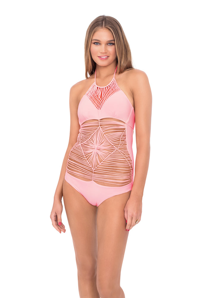 HEART OF A HIPPIE - Weave One Piece • Pink Sunsets (874111500332)