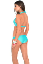PINEAPPLE FIELDS - Weave Underwire Top & Full Bottom • Aquamarine