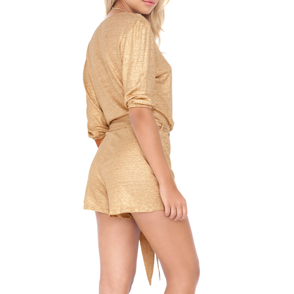 SPIRIT OF A FAIRY - Wrap Front 3/4 Sleeve Romper
