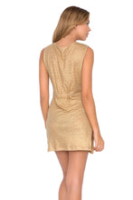 SPIRIT OF A FAIRY - Lace Up Mini Dress • Gold