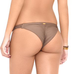 SECRETS IN THE SAND - Strappy Brazilian Ruched Back Bottom