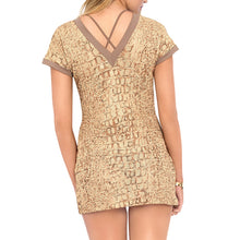 SECRETS IN THE SAND - Vneck Bodycon Dress