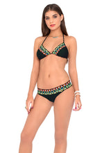 OCEAN SPELL - Navajo Trimmed Triangle Top & Navajo Band Buns Out Bottom • Black