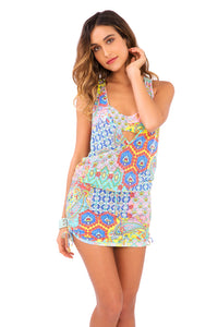 SIREN DANCE - T Back Mini Dress • Multicolor