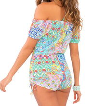 SIREN DANCE - Off The Shoulder High Waist Romper