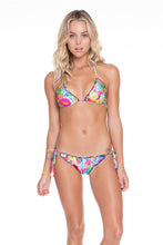 PARAISO - Wavey Triangle Top & Wavey Ruched Back Brazilian Tie Side Bottom • Multicolor
