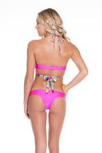 PARAISO - Cross Over Halter Top & Lo Rise Seamless Skimpy Bottom • Multicolor