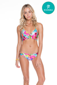 PARAISO - Cross Over Halter Top & Lo Rise Seamless Skimpy Bottom • Multicolor (874463166508)