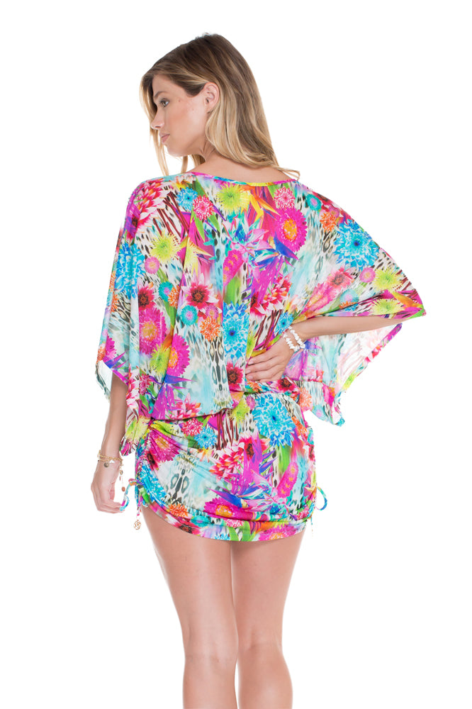 PARAISO - Cabana V Neck Dress • Multicolor