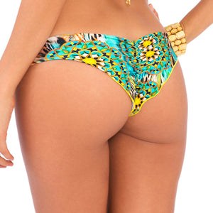 MOON PRINCESS - Wavey Ruched Back Brazilian Bottom