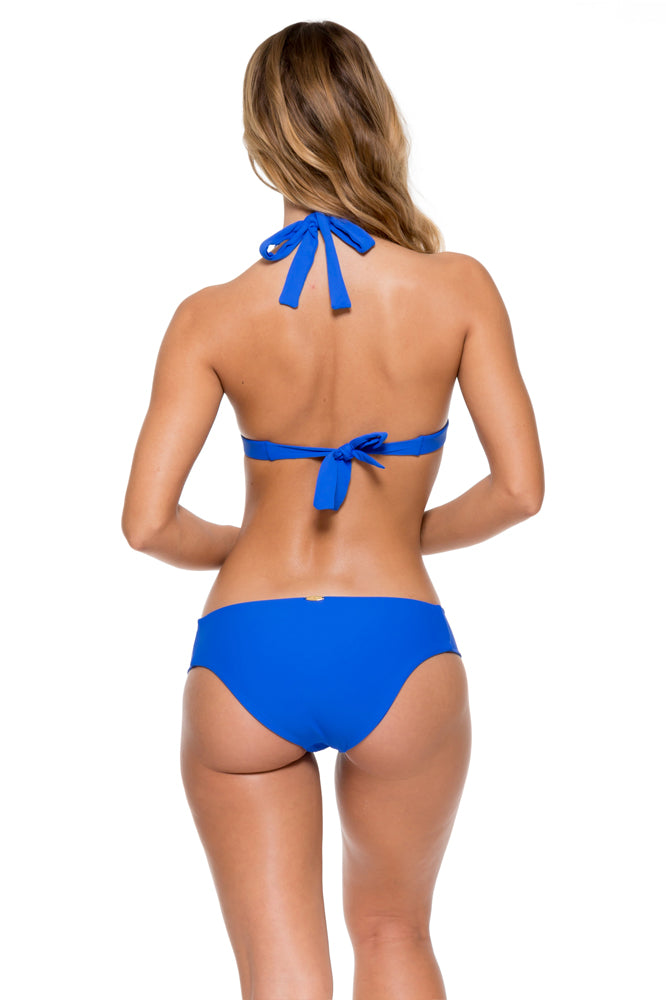 TROPICAL PRINCESS - Band Triangle Top & Tab Sides Full Bottom • Electric Blue