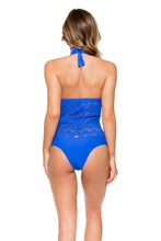 TROPICAL PRINCESS - Chic Halter One Piece • Electric Blue