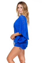 TROPICAL PRINCESS - Cabana V Neck Dress • Electric Blue