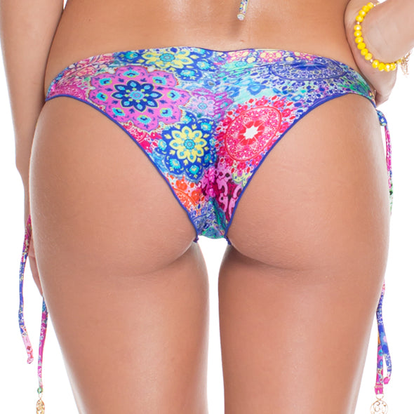 SUNBURST - Wavey Ruched Back Brazilian Tie Side Bottom