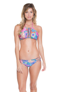 SUNBURST - Strings To Braid Halter Top & Full Bottom • Multicolor