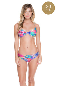 SUNBURST - Underwire Adjustable Top & Fold Over Seamless Full Bottom • Multicolor