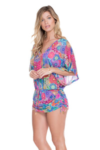 SUNBURST - Cabana V Neck Dress • Multicolor