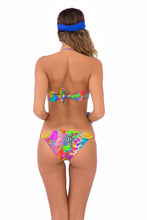BAREFOOT & FREE - Suspended Strings Bandeau Top & Strings Moderate Bottom • Multicolor