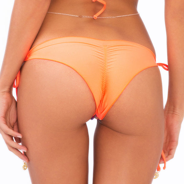 SONG OF THE SEA - Wavey Ruched Back Brazilian Tie Side Bottom (844055478316)