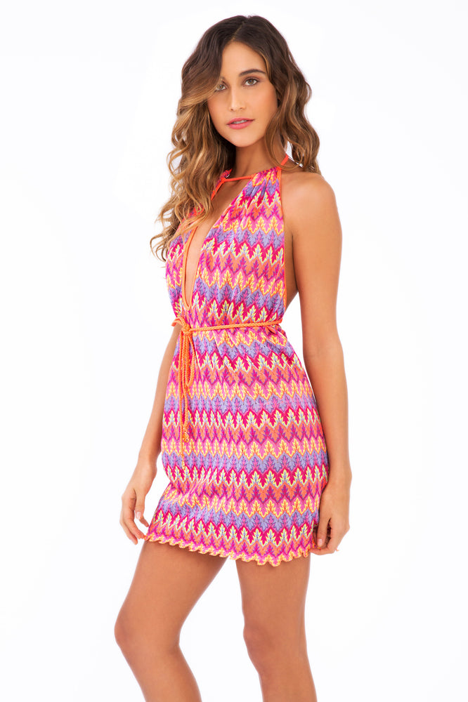SONG OF THE SEA - Front Row Mini Dress • Multicolor