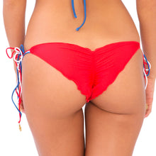 AMERICAN DREAM - Wavey Ruched Back Brazilian Tie Side Bottom