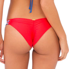 AMERICAN DREAM - Strappy Brazilian Ruched Back Bottom