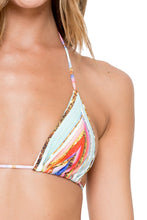 BELLAMAR - Triangle Top & Ruched Back Brazilian Tieside • Multicolor