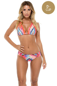 BELLAMAR - Triangle Halter Top & Seamless Full Bottom • Multicolor