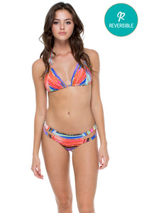 BELLAMAR - Zig Zag Knotted Cut Out Triangle Top & Cut Out Moderate Bottom • Multicolor (874532274220)