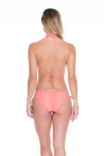 SUNSET ANGEL - Halter Top & Wavey Ruched Back Full Tie Side Bottom • Multicolor