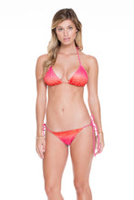 SUNSET ANGEL - Triangle Top & Wavey Ruched Back Brazilian Tie Side Bottom • Multicolor