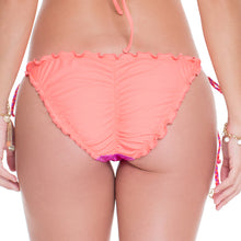 SUNSET ANGEL - Wavey Ruched Back Full Tie Side Bottom